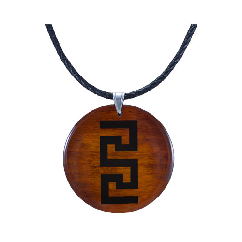 Pendant necklace caramel colour greek key pattern wooden pendants pendant necklace caramel colour greek key pattern audiocablefo
