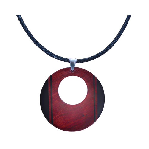 Wooden pendants tree top jewels pendant necklace cherry colour regent pattern aloadofball Image collections