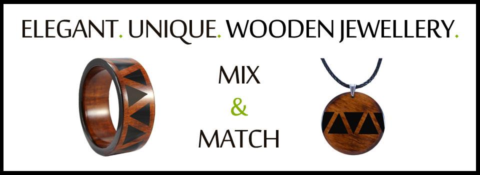 wooden jewellery - match styles